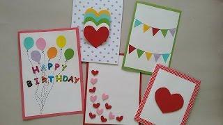 getlinkyoutube.com-5 Cute & Easy Greeting cards | Srushti Patil