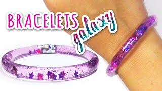 "getlinkyoutube.com-DIY crafts: WATER BRACELETS ""Galaxy"" - Innova Crafts"