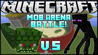 "getlinkyoutube.com-""NAGA VS. MUTANT ENDERMAN!"" - Minecraft: Mob Battle Arena! (Mutant Creatures\Twilight Forest Mod)"