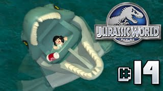 getlinkyoutube.com-Mosasaur Feeding Time!! Jurassic World LEGO Game - Ep14