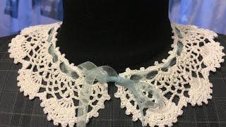 getlinkyoutube.com-Ажурный воротничок Оpenwork collar