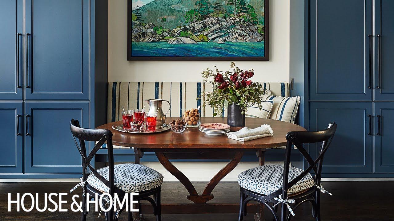 Interior Design: Beautiful Bistro-Style Blue Kitchen