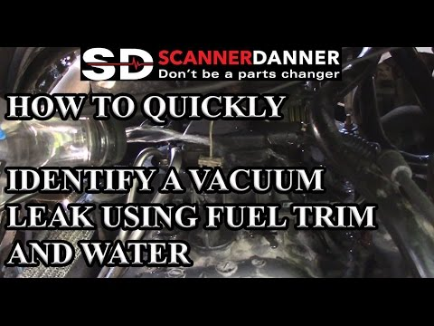 How to quickly identify a vacuum leak using fuel trim and water