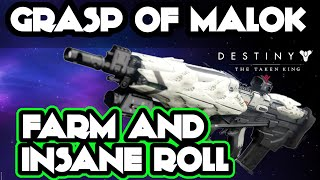 getlinkyoutube.com-Destiny - GRASP OF MALOK INSANE ROLL! How to Get it, Best Farming Method, and Malok Review (Mini)