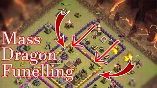 Town Hall 7 - Mass Dragon Funneling 3 star Attack Strategy Clan War Guide (TH7)