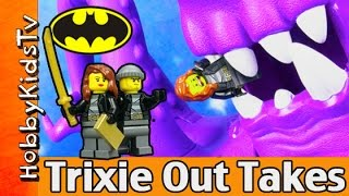 getlinkyoutube.com-Trixie Escapes Pizza Planet Batman Out Takes Imaginext LEGO Play Doh