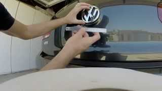 getlinkyoutube.com-2013 VW GTI: Episode 48: Removing Rear Hatch Emblem and Painting