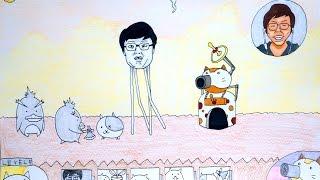 getlinkyoutube.com-にゃんこ大戦争にヒカキンさんが登場したから描いてみた!