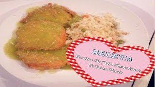 getlinkyoutube.com-Tortitas De Pollo Deshebrado En Salsa Verde