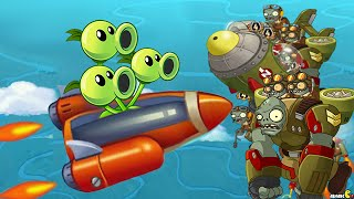 getlinkyoutube.com-Plants Vs Zombies 2: Sky Castle World 3 Star Challenge Electric Blueberry! (PVZ 2 China)