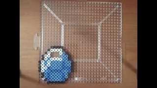 getlinkyoutube.com-Perler Bead Speed Art: Minecraft - Diamond
