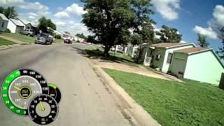getlinkyoutube.com-Bicycle Ride - Data Overlay