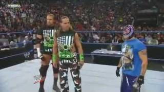 getlinkyoutube.com-Smackdown 29/01/2010 DX, Rey Mysterio and S.E.S segment