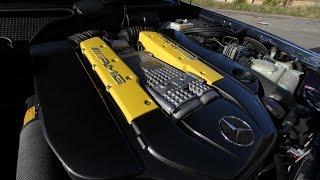 getlinkyoutube.com-Mercedes W210 E55 Kompressor custom exaust with flap - Soundcheck