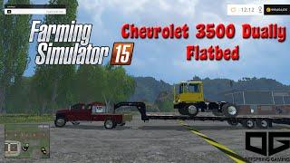 getlinkyoutube.com-FS 2015 Mods- Custom Offspring Gaming Chevy 3500 Flatbed Dually!