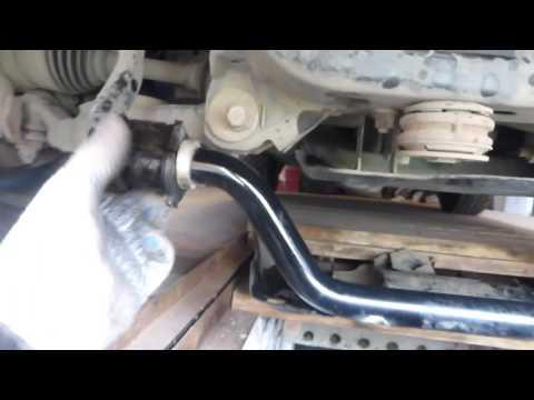 Замена втулок переднего стабилизатора на ПРАДО 120