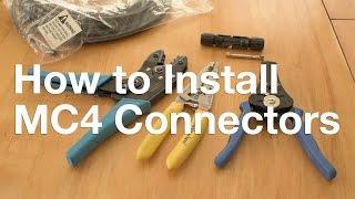 getlinkyoutube.com-How to Install MC4 Connectors
