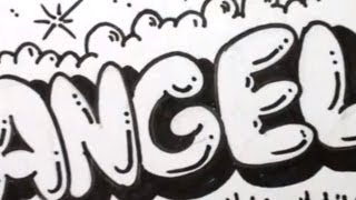 getlinkyoutube.com-How to Draw Bubble Letters - Angela in Graffiti Letters