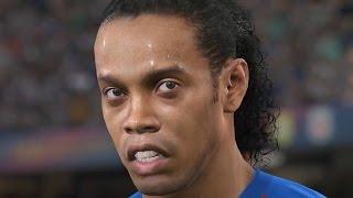 getlinkyoutube.com-PES 2017 GAMEPLAY - TRAILER LEGENDS (Ronaldinho, Rivaldo, Luis Henrique, Puyol, Larsson)