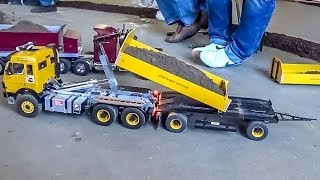 getlinkyoutube.com-RC Container Truck and Trailer ACTION!