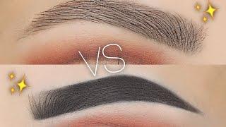 Natural Vs Fleeky Eyebrow Routine