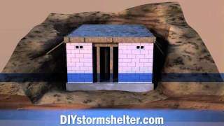 getlinkyoutube.com-Concrete block DIY Storm Shelter 12x20 foot