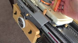 getlinkyoutube.com-Ribber Problems Connecting Arm Jams Troubleshooting Knitting Machine Disconnecting by GemFOX