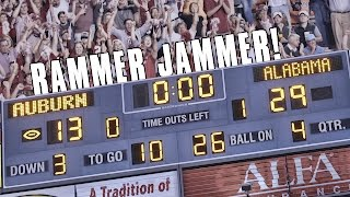getlinkyoutube.com-Alabama fans take over Jordan-Hare with 'Rammer Jammer'