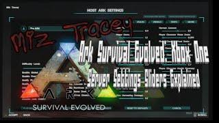 getlinkyoutube.com-Ark Survival Evolved-New Server Settings Sliders Explained!! Xbox One Patch 235