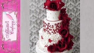 getlinkyoutube.com-Red Red Rose Wedding Cake