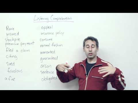 Listening Comprehension - Legal Vocabulary in English