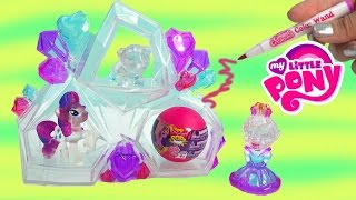 getlinkyoutube.com-Crystal Creations Craft Princess Playset My Little Pony Blind Bag Squishy Pops Toy Unboxing Video
