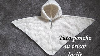getlinkyoutube.com-TUTO PONCHO A CAPUCHE TOUTES TAILLES AU TRICOT all sizes easy to knit poncho
