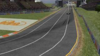 Rfactor Albert Park Start Crash 18 cars