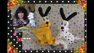 getlinkyoutube.com-PERRITO  PLUTO CON GLOBOS.- HOW TO MAKE  PLUTO .
