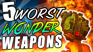"Top 5 WORST Wonder Weapons! - Call of Duty Zombies Black Ops, BO2 & WAW ""Zombies WORST Weapons"""