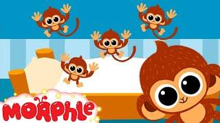 getlinkyoutube.com-5 little Monkeys jumping on the bed nursery rhyme  -- Morphle's Nursery Rhymes