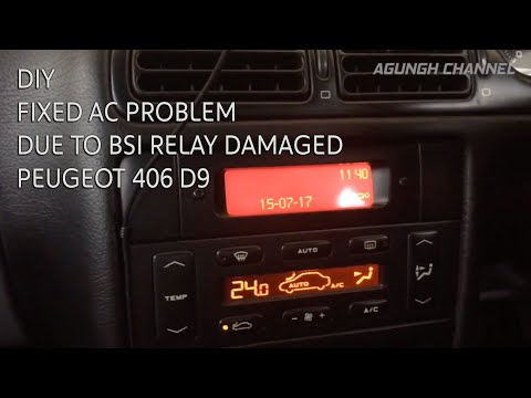 How To Replace AC Relay in BSI Unit - PEUGEOT 406