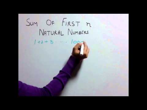 Trick 32 Sum of first n Natural Numbers