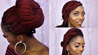 getlinkyoutube.com-How To Style Box Braids/6 Quick And Unique Styles