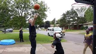 Eau Claire Police Deliver Basketball Hoop