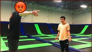 getlinkyoutube.com-ALONE AT A TRAMPOLINE PARK & WE GOT BANNED... THE STAFF WAS REALLY MAD