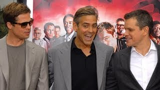 getlinkyoutube.com-George Clooney Pranks Brad Pitt, Matt Damon, and More | POPSUGAR News