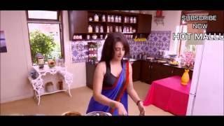 A Hindi actress MONICA ,Deep navel HOT in low  hip saree SCENS