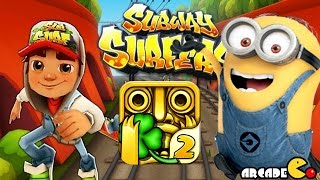 getlinkyoutube.com-Despicable Me 2 Minion Rush Temple Run 2 Subway Surfers