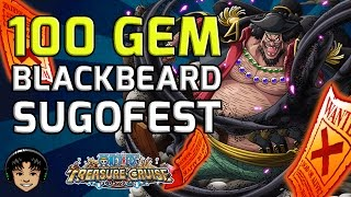 getlinkyoutube.com-100 Gem Blackbeard Sugofest - He's So GOOD! [One Piece Treasure Cruise]