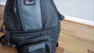getlinkyoutube.com-Lowepro Slingshot 202AW DSLR Sling Bag User Review