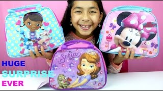 getlinkyoutube.com-Doc McStuffins Sofia the First and Minnie Mouse Surprise Lunch Boxes|B2cutecupcakes