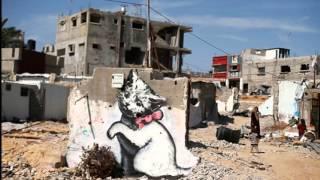 "getlinkyoutube.com-Street art of Banksy in Palestine with David Rovics singing ""Occupation"" Video by Eitan Altman"
