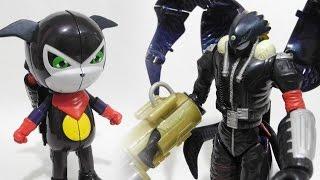 getlinkyoutube.com-Impmon(インプモン)to Beelzemon(Blast Mode)(ベルゼブモン:ブラストモード)-Bandai Digimon Transformation Toy